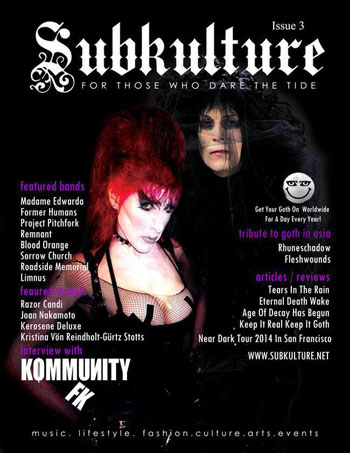 Kommunikty FK~Cover&Feature Interview In Subkulture Mag