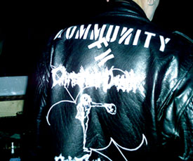 Dave Bats Leather-Kommunity FK Logo Loud N Proud
