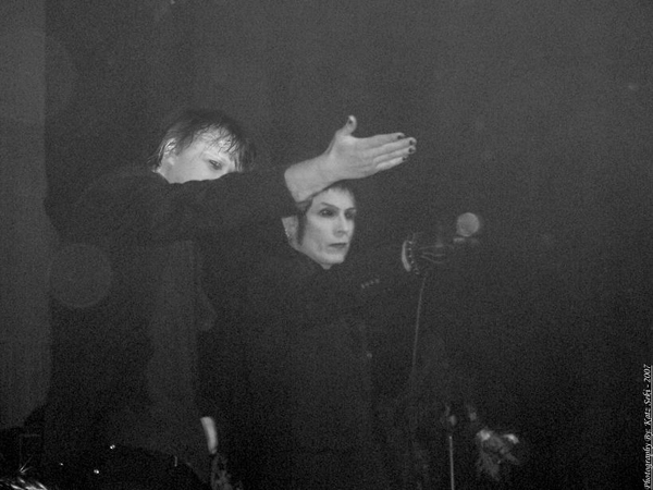 Patrik Mata onstage with Christian Death 1334